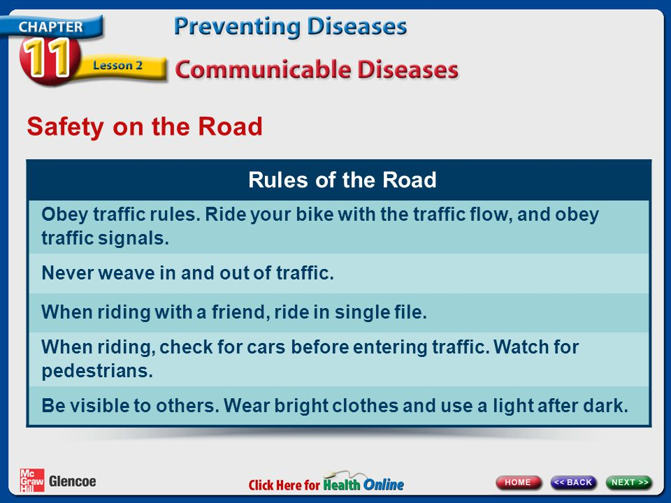 Safety on the Road Rules of the Road