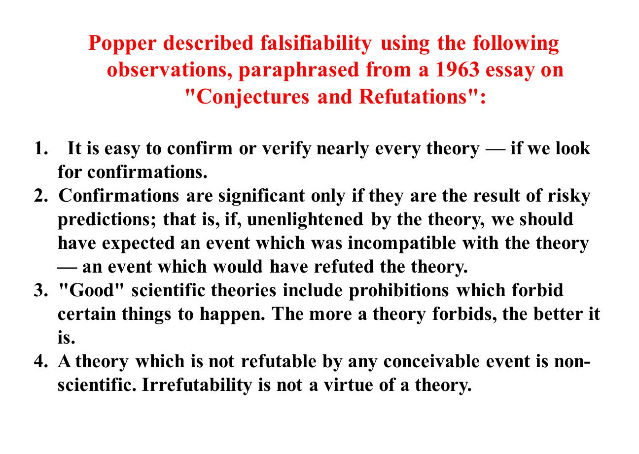 conjectures and refutation essays
