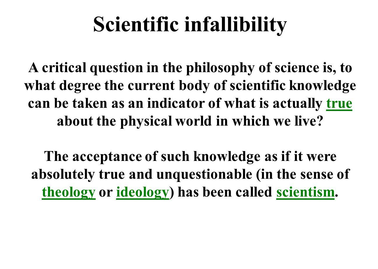 Scientific infallibility