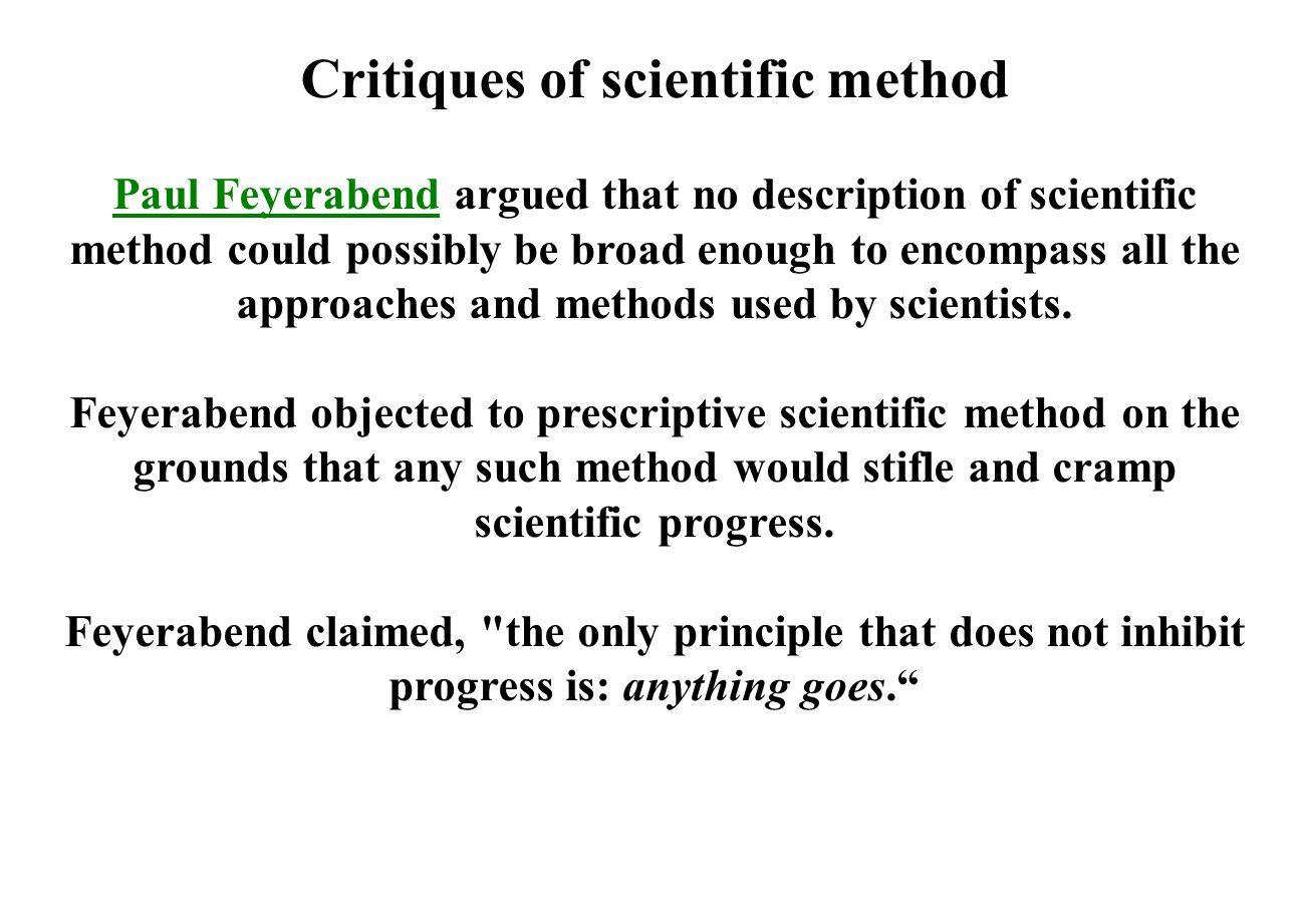 Critiques of scientific method