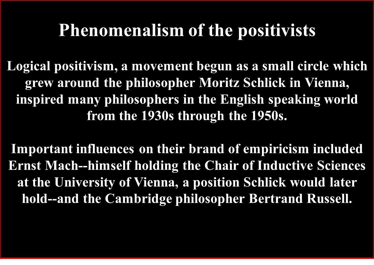 Phenomenalism of the positivists