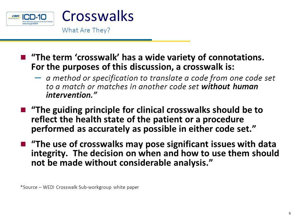 Crosswalks Definition