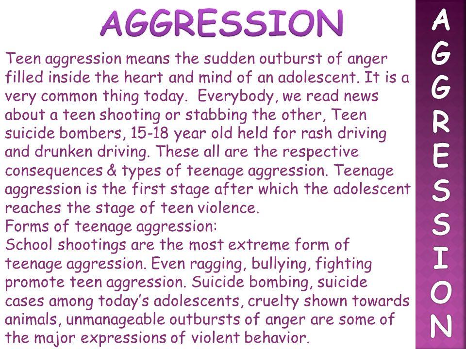 AGGRESSION A. G. R. E. S. I. O. N.