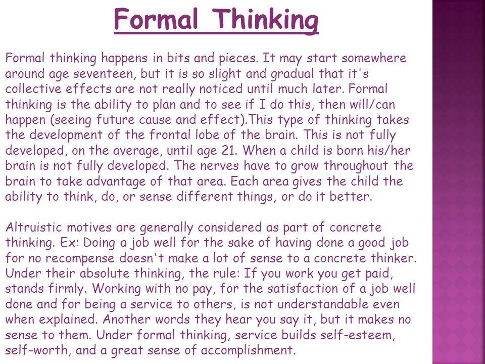 Formal Thinking