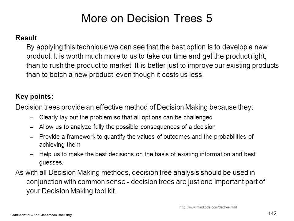 More on Decision Trees 5