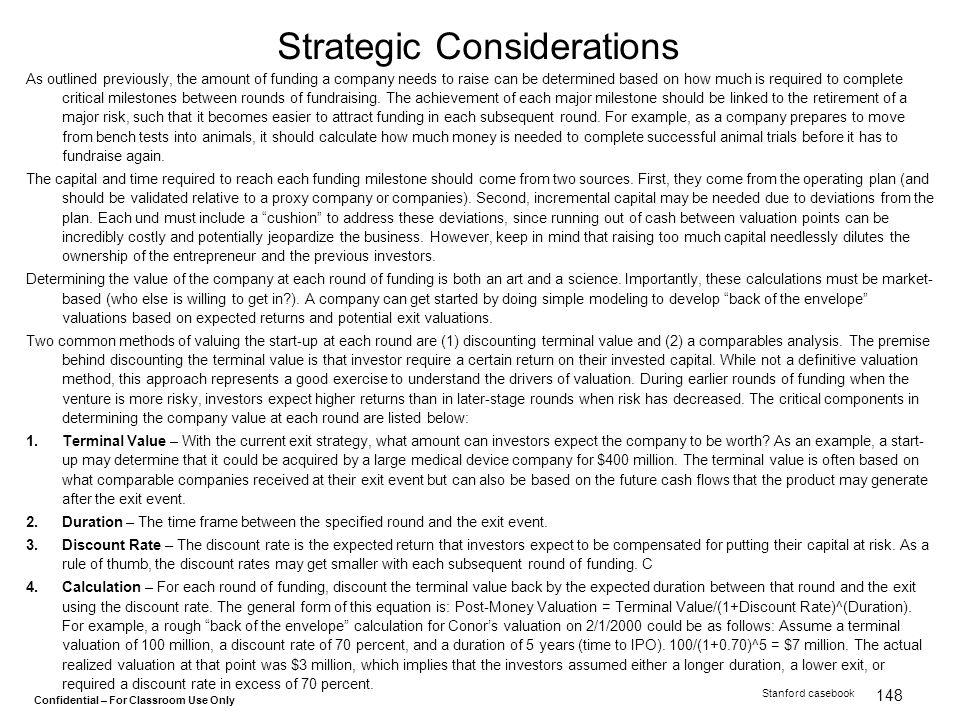 Strategic Considerations