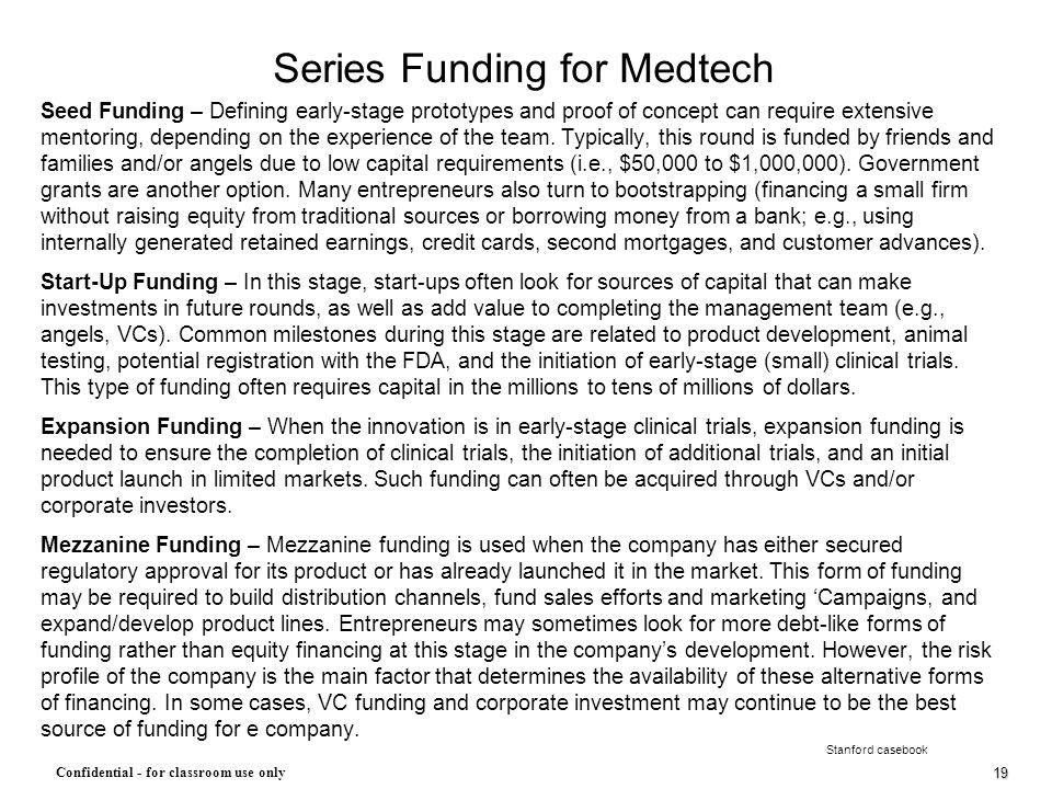 Series Funding for Medtech
