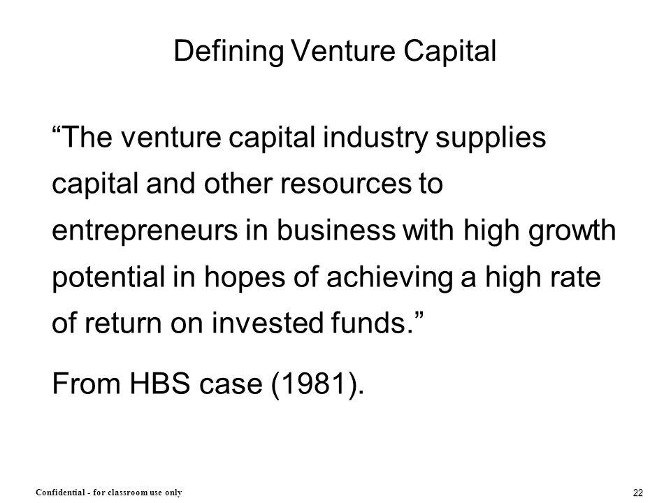 Defining Venture Capital