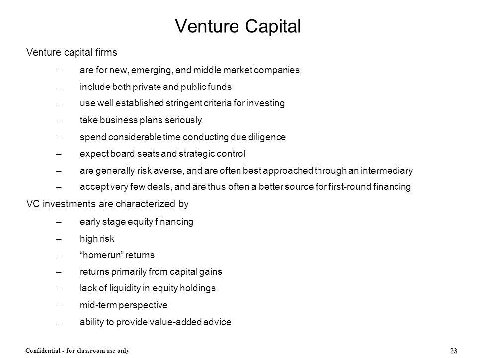 Venture Capital Venture capital firms