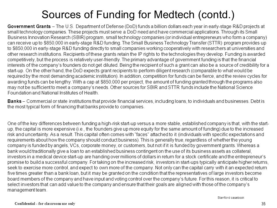 Sources of Funding for Medtech (contd.)