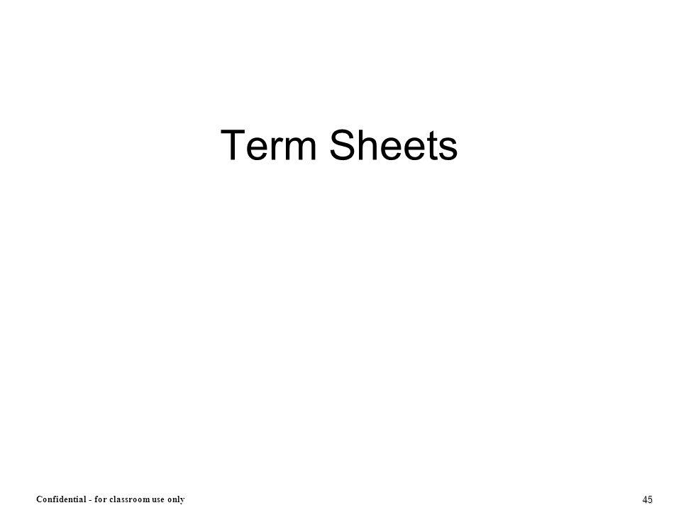 Term Sheets