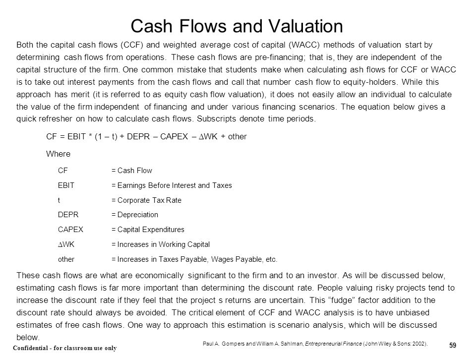 Cash Flows and Valuation