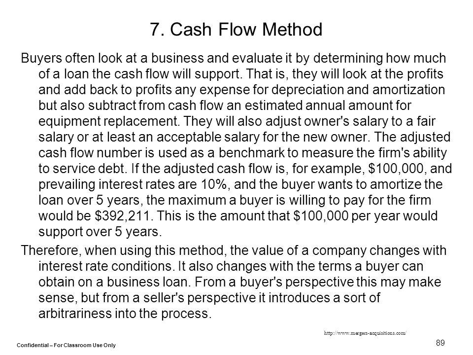 7. Cash Flow Method