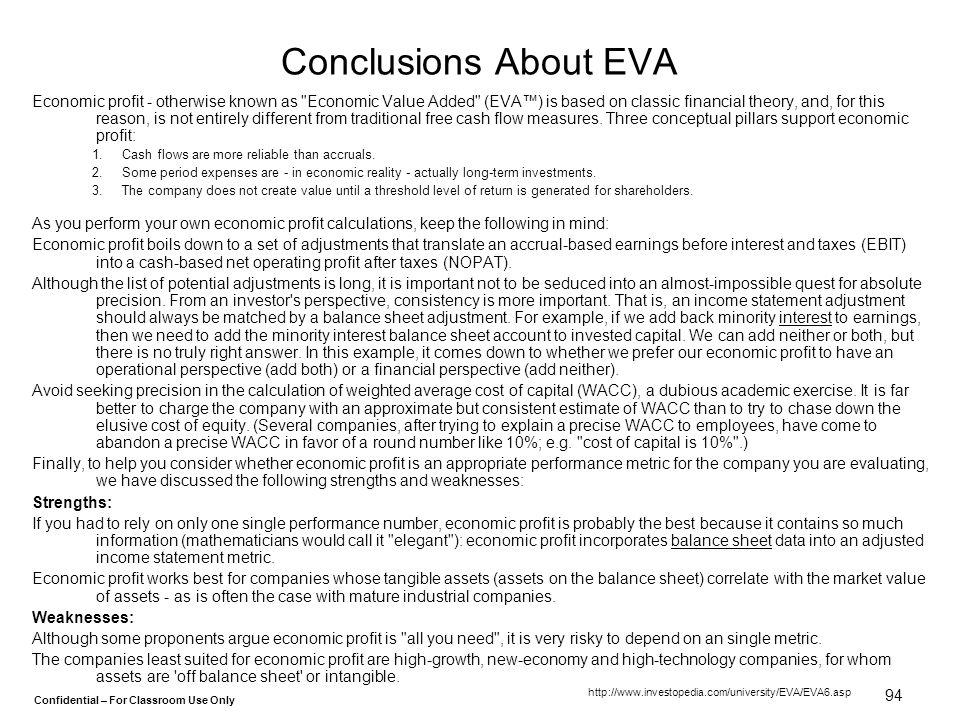 Conclusions About EVA