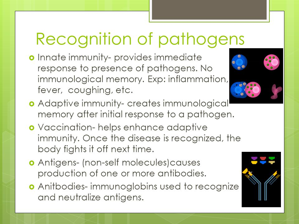 Recognition of pathogens