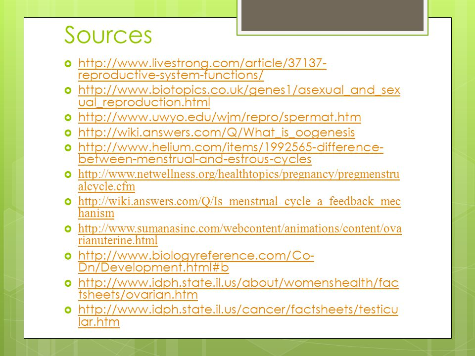 Sources http://www.livestrong.com/article/37137-reproductive-system-functions/