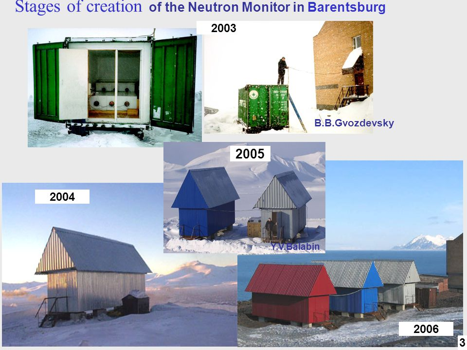 Stages of creation of the Neutron Monitor in Barentsburg