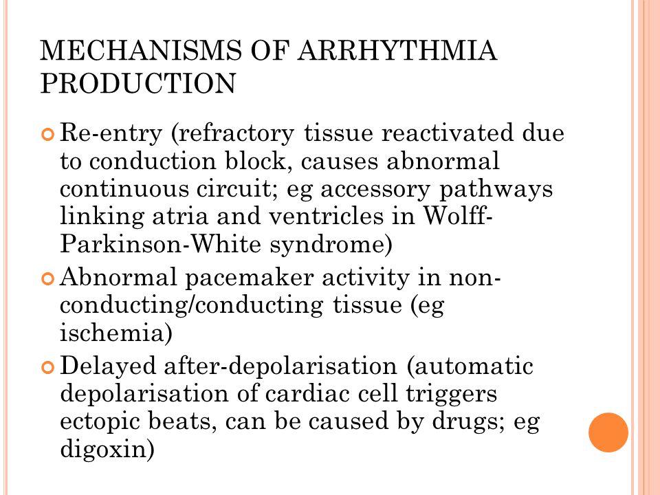 MECHANISMS OF ARRHYTHMIA PRODUCTION