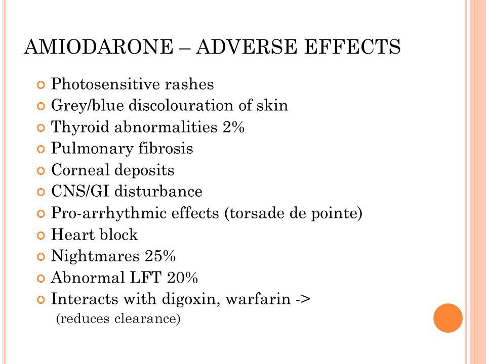 AMIODARONE – ADVERSE EFFECTS