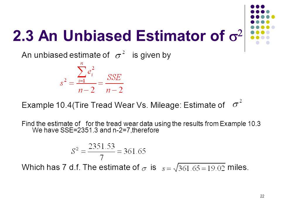 2.3 An Unbiased Estimator of s2