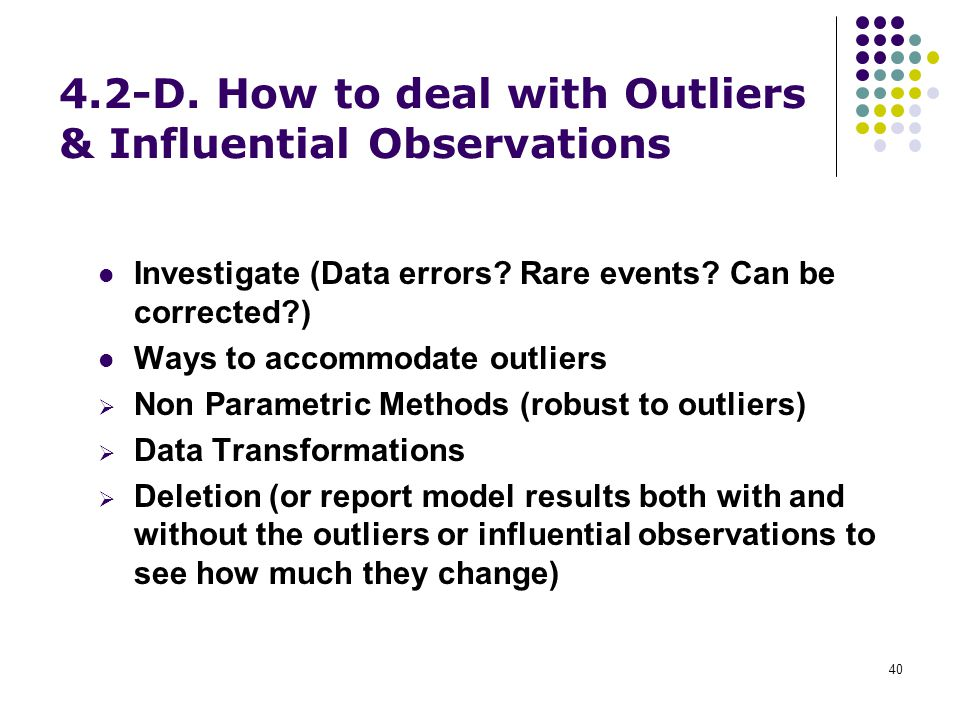 4.2-D. How to deal with Outliers & Influential Observations
