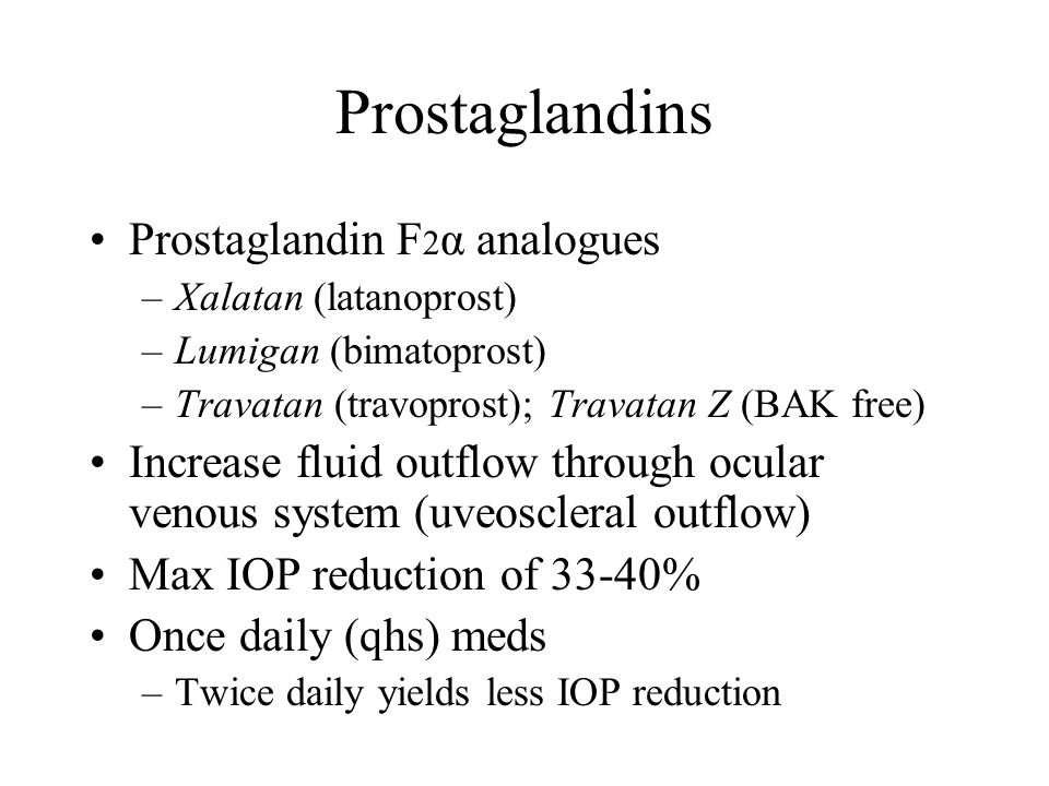 Prostaglandins Prostaglandin F2α analogues