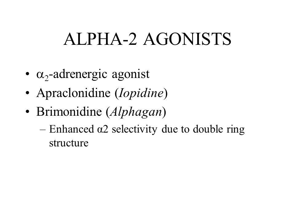ALPHA-2 AGONISTS 2-adrenergic agonist Apraclonidine (Iopidine)