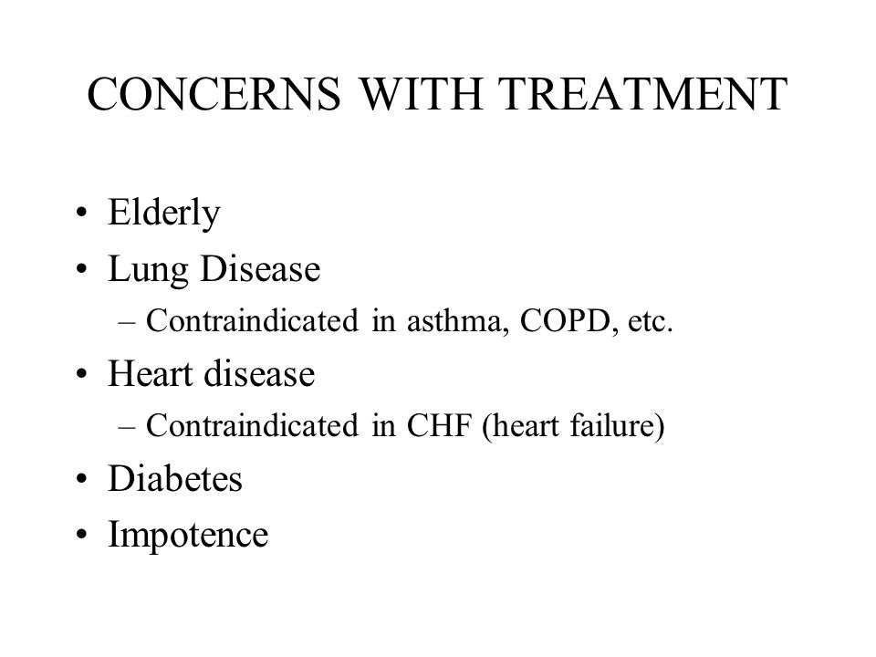 CONCERNS WITH TREATMENT