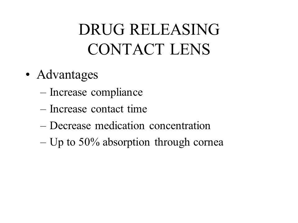 DRUG RELEASING CONTACT LENS