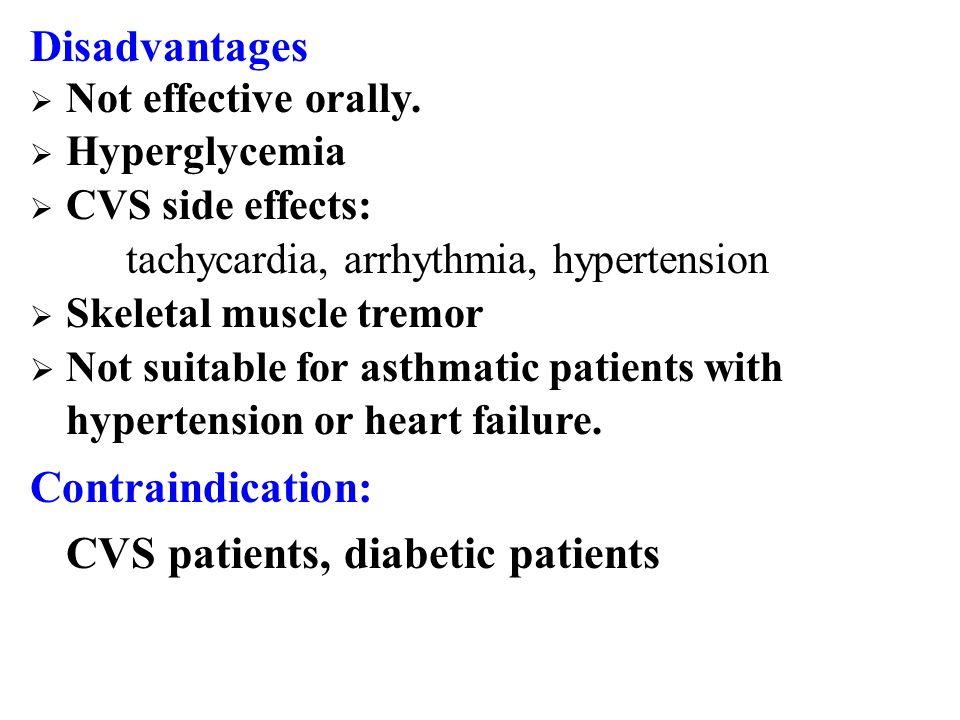 CVS patients, diabetic patients
