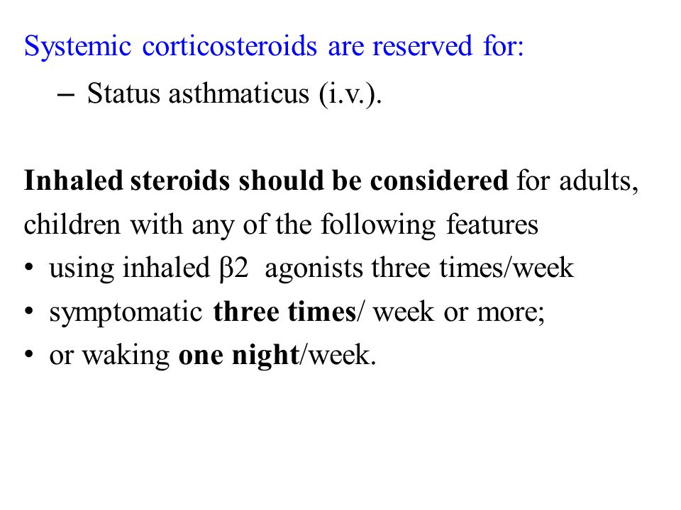 Systemic corticosteroids are reserved for: