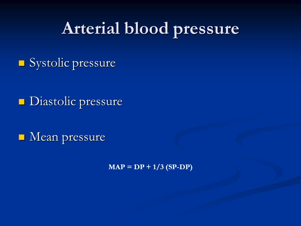 Arterial blood pressure
