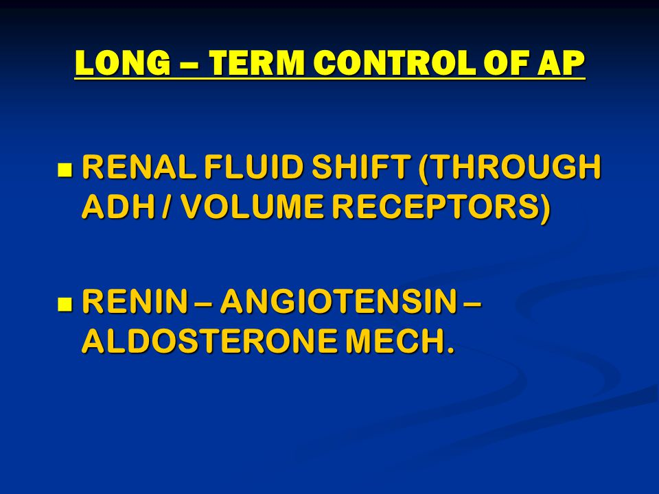 LONG – TERM CONTROL OF AP