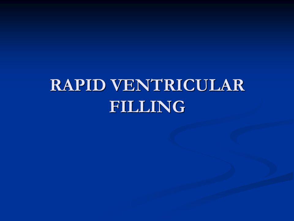RAPID VENTRICULAR FILLING