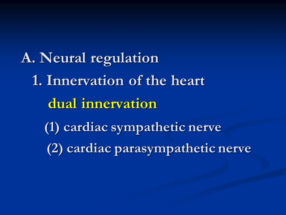 A. Neural regulation 1.