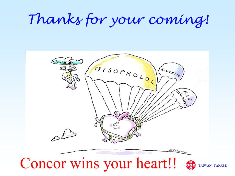 Concor wins your heart!! Thanks for your coming! 最後很感謝各位來參加有關乙型阻斷劑的介紹