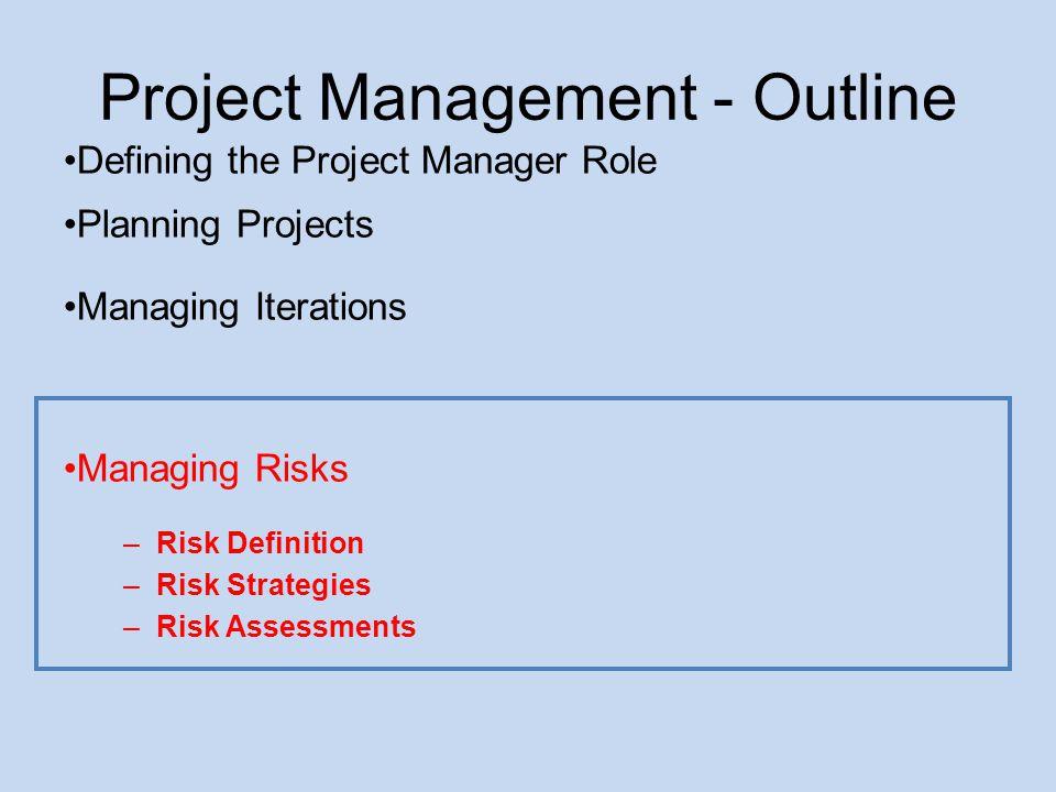 Project Management - Outline