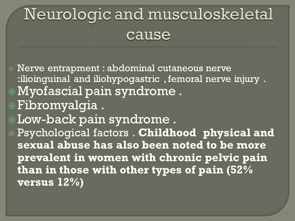 Neurologic and musculoskeletal cause