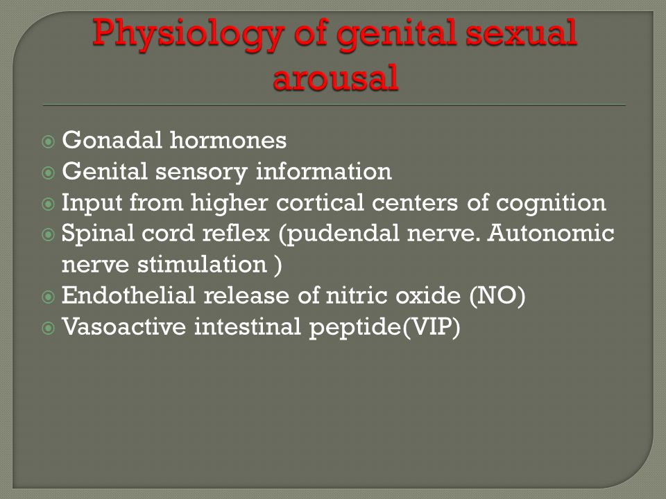 Physiology of genital sexual arousal