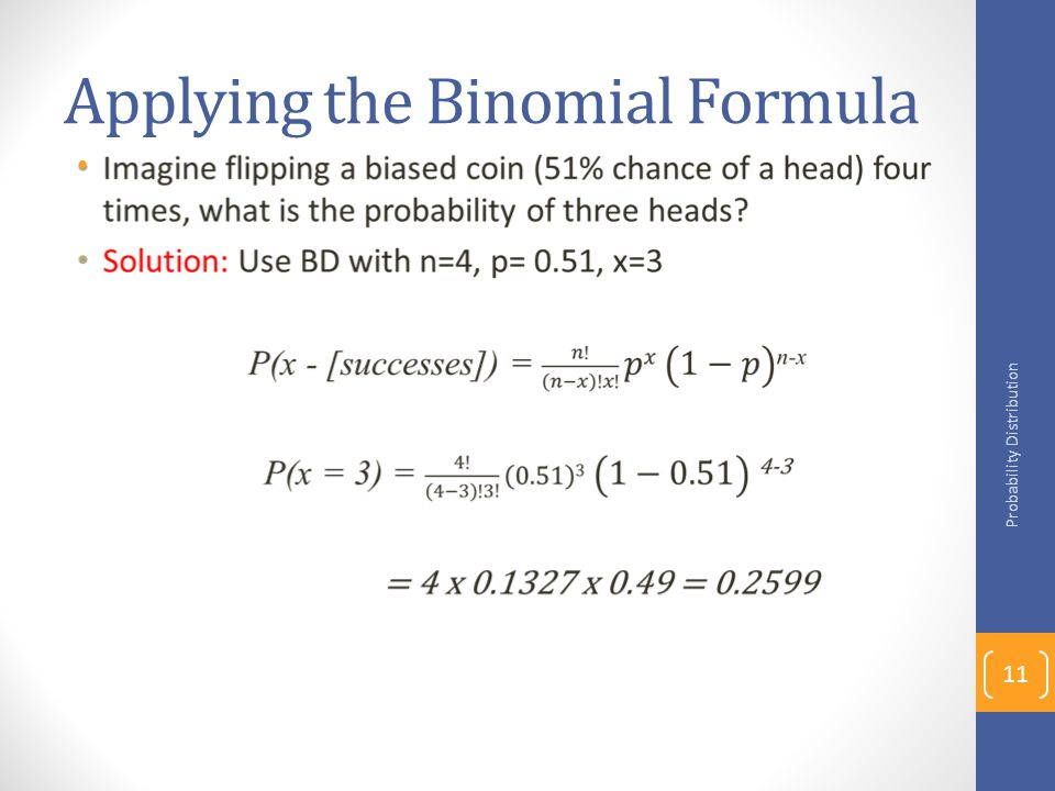 Applying the Binomial Formula