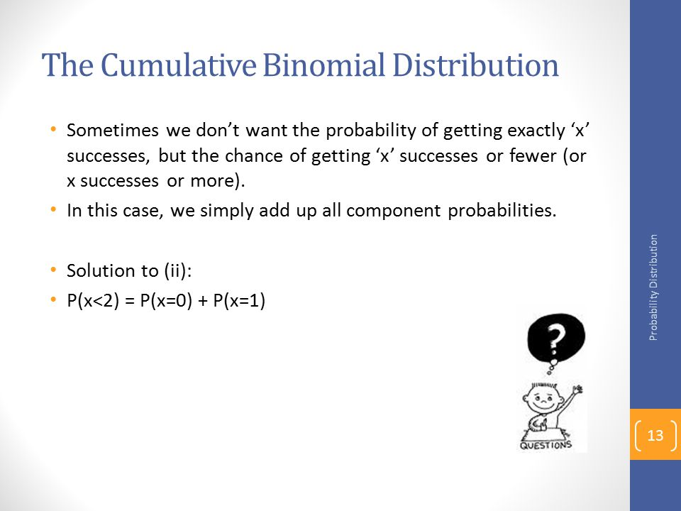 The Cumulative Binomial Distribution