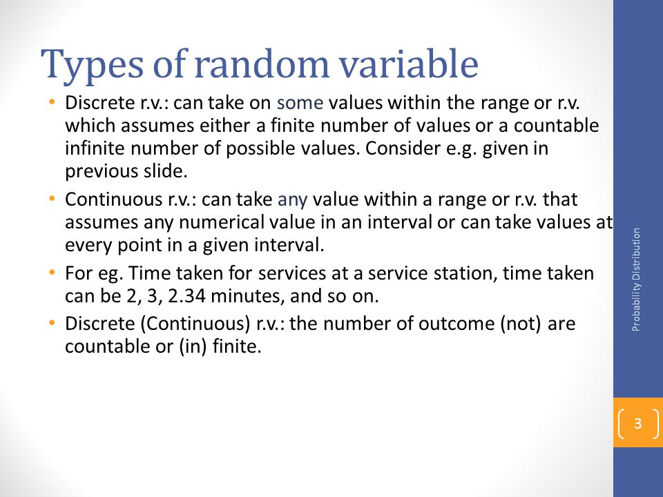 Types of random variable