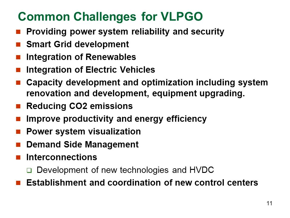 Common Challenges for VLPGO