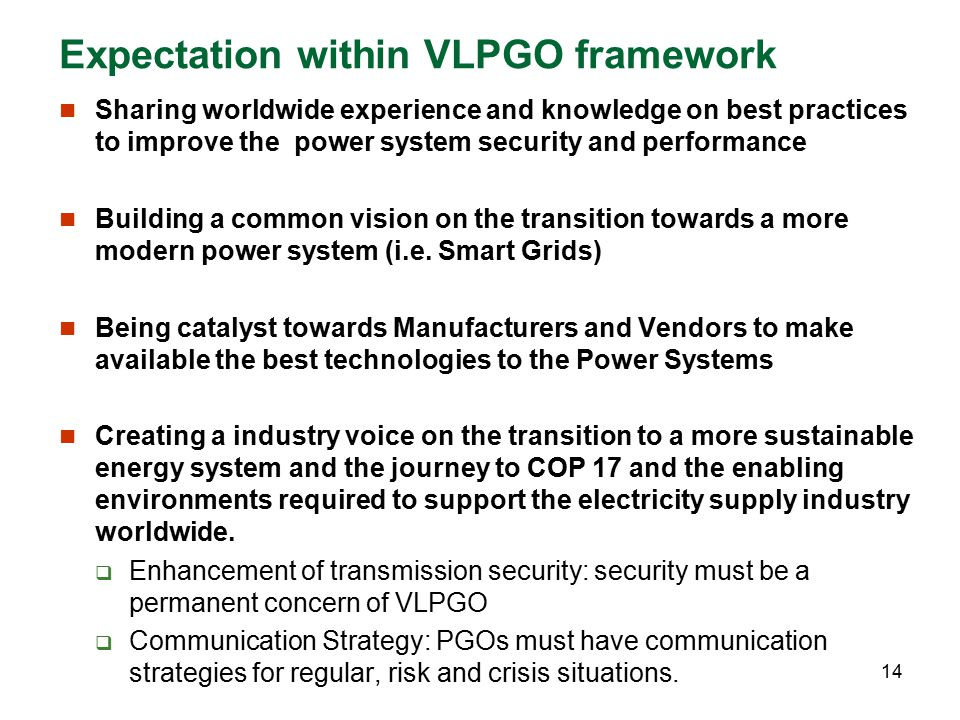 Expectation within VLPGO framework