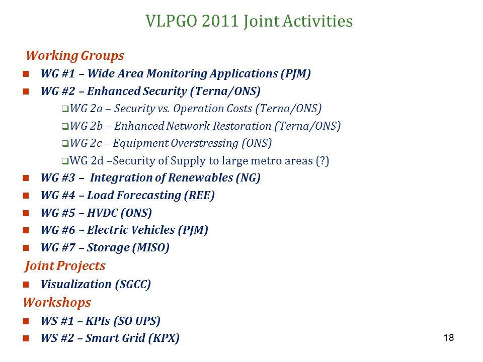 VLPGO 2011 Joint Activities