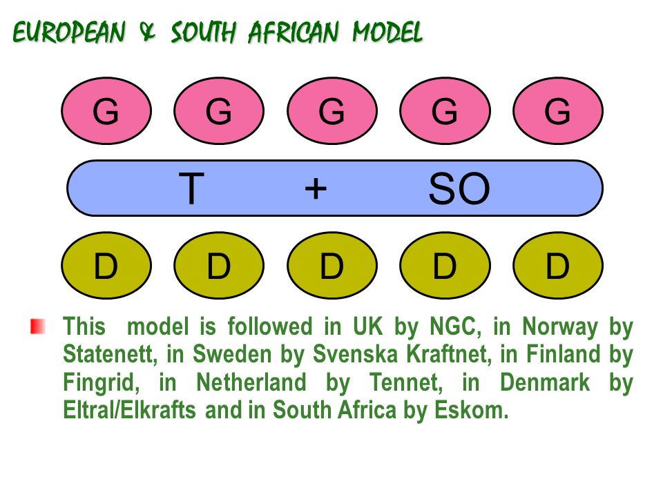 EUROPEAN & SOUTH AFRICAN MODEL