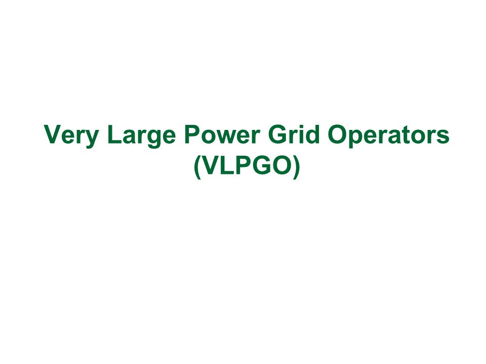 Very Large Power Grid Operators (VLPGO)
