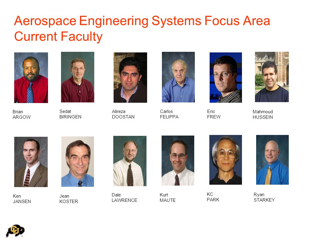 Aerospace Engineering Systems Focus Area Current Faculty