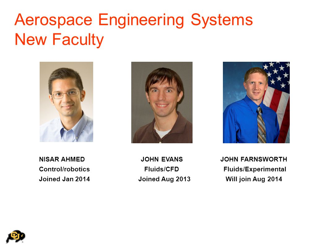 Aerospace Engineering Systems New Faculty