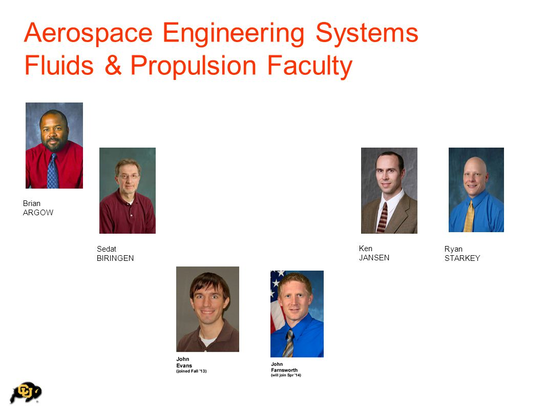 Aerospace Engineering Systems Fluids & Propulsion Faculty